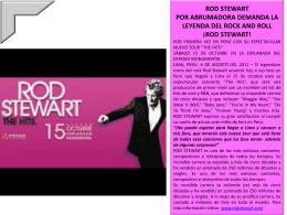 rod stewart!
