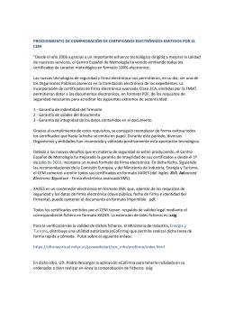 Procedimiento de comprobación de certificados electrónicos