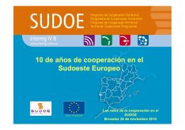 10 de años de cooperación en el Sudoeste Europeo