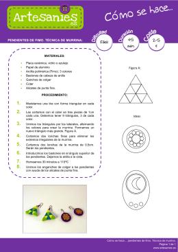 PENDIENTES DE FIMO. TÉCNICA DE MURRINA: Figura A: Ideas