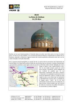 IRAN La Ruta de Isfahan 16/20 días