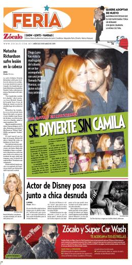 Actor de Disney posa junto a chica desnuda
