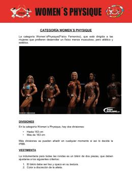 CATEGORÍA WOMEN´S PHYSIQUE