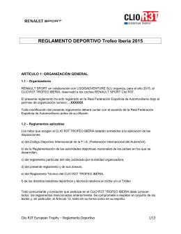 REGLAMENTO DEPORTIVO Trofeo Iberia 2015