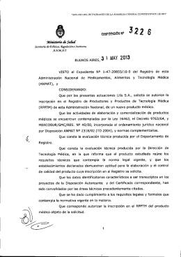 Disposición 3226 - 13