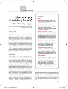 Infecciones por rickettsias y fiebre Q