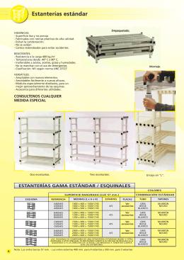 Estanterías modulares estándar de plástico