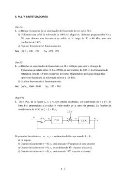 5. PLL Y SINTETIZADORES (Jun.94) 1. a) Dibuje el esquema de un