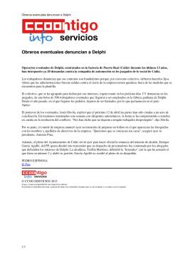 Obreros eventuales denuncian a Delphi