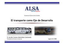 Presentación de ALSA al Departamento de Transportes y Obras