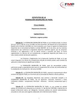 estatutos 2014-03  - Federación Madrileña de Pádel