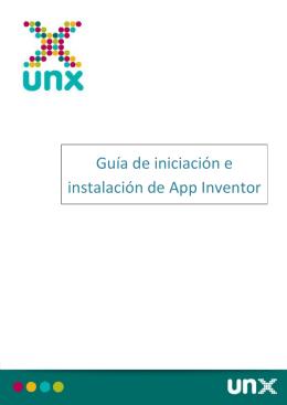 Guía de iniciación e instalación de App Inventor
