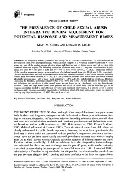 the prevalence of child sexual abuse: integrative review adjustment