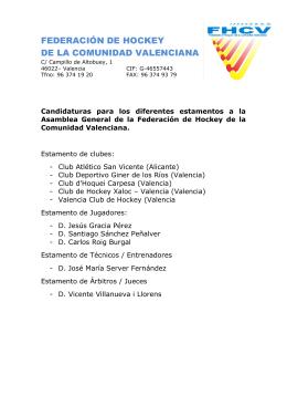 FEDERACIÓN DE HOCKEY DE LA COMUNIDAD VALENCIANA