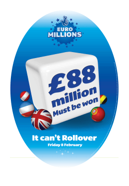 EuroMillions in-store: 28 Jan