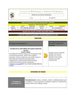ÁREA DE EDUCACIÓN FÍSICA RECREACIÓN Y DEPORTE