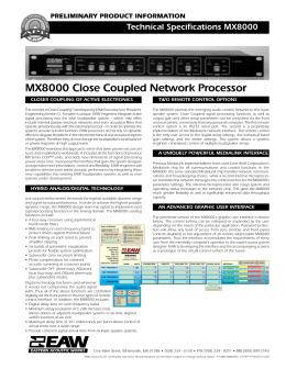 MX8000 Processor