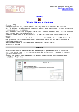 Filezilla Cliente FTP para Windows