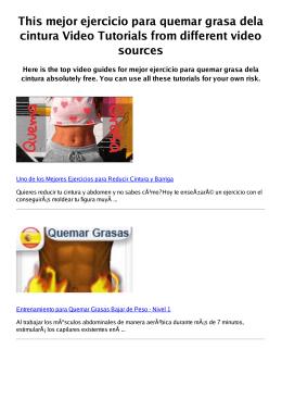 #Z mejor ejercicio para quemar grasa dela cintura PDF