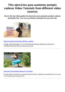#Z ejercicios para aumentar pompis caderas PDF video