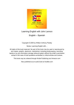 Learning English with John Lennon English – Spanish