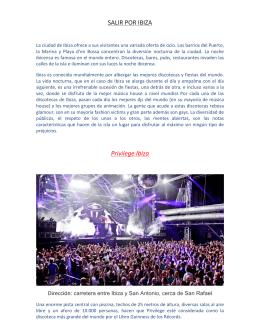 SALIR POR IBIZA Privilege Ibiza