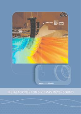 Listado de Instalaciones con Sistemas Meyer Sound en España