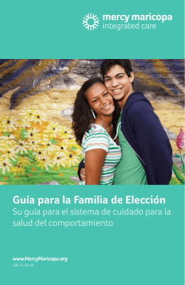 Family Choice Guide - Mercy Maricopa Integrated Care