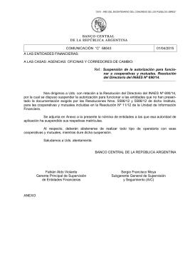 """comunicación """"c"""" 68043 01/04/2015 a las entidades financieras"""