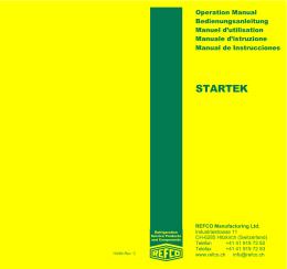 STARTEK - Refco Manufacturing Ltd.