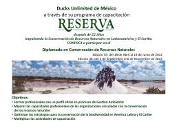 Ducks Unlimited de México a través de su programa de capacitación