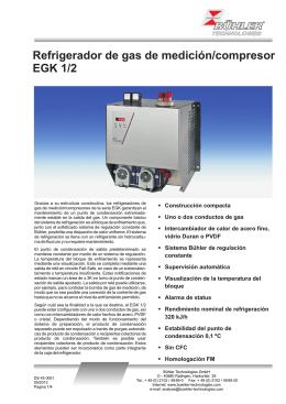 Refrigerador de gas de medición/compresor EGK 1/2