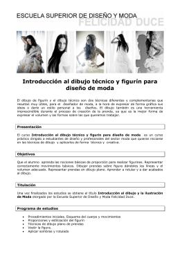 Introducción al dibujo técnico y figurín para diseño de moda