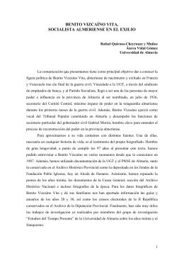 benito vizcaíno vita, socialista almeriense en el exilio
