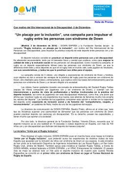"""""""Un placaje por la inclusión"""", una campaña para impulsar el rugby"""