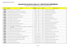 subvencion deporte 2014 - Portal del gobierno BioBío