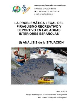 Informe sobre Navegación - Federación Española de Piragüismo