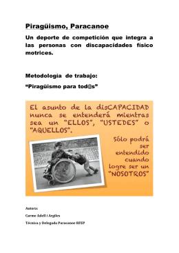 Piragüismo inclusivo para tod@s