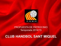 propuestas de patrocinio - club handbol sant miquel
