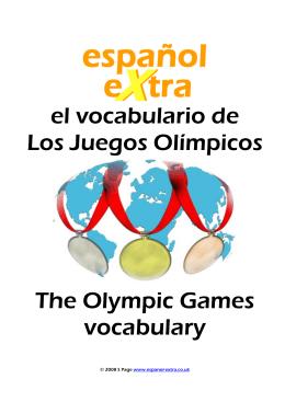 el vocabulario de Los Juegos Olímpicos The