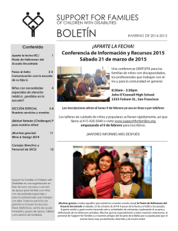 Pasos al éxito - Support for Families of Children with Disabilities