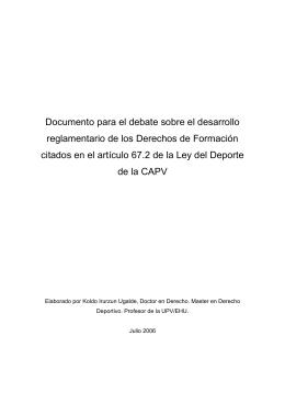 Ley 14/1998 del Deporte de la CAPV