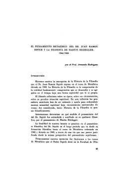 EL PENSAMIENTO METAFISICO DEL DR. JUAN RAMÓN SEPICH