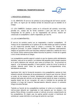 NORMAS DEL TRANSPORTE ESCOLAR 1