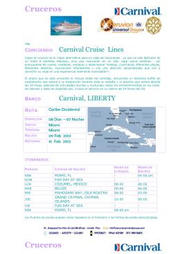 Prf Cruceros Carniva.. - Peruvian Universal Groups