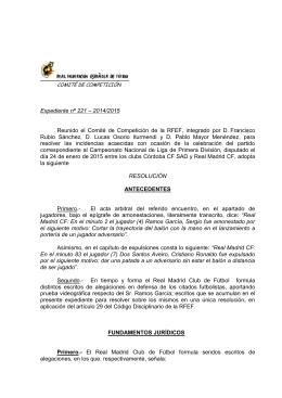 Resoluciones j. 20 - Real Federación Española de Fútbol