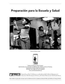 Preparación para la Escuela y Salud