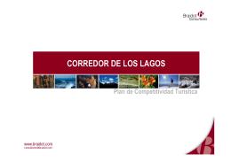 corredor de los lagos - UEPI - Secretaría de Turismo de la Nación