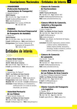 Entidades de interés - Guia Canarias Transporte y Logística