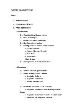 FUENTES DE ALIMENTACION Índice: 1. INTRODUCCIÓN 2